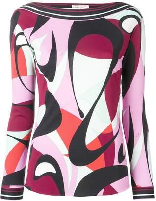 Emilio Pucci Alex Print Long Sleeve Top