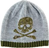 San Diego Hat Company Gray & Olive Skull Beanie