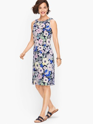 Talbots Floral Knit Shift Dress