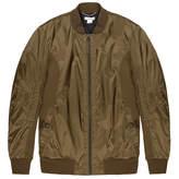 Helmut Lang Olive Nylon Mesh Bomber Jacket