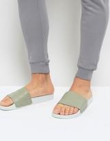 adidas Adilette Slider Thongs In Beige By9904