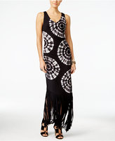 INC International Concepts Petite Tie-Dyed Fringe Maxi Dress, Only at Macy's