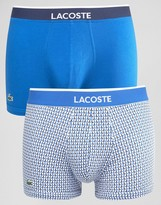 Lacoste Trunks 2 Pack Geo Print
