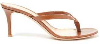 Gianvito Rossi Thong 70 Leather Sandals - Womens - Tan