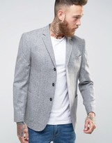 Asos Slim Blazer In Nepp Fabric