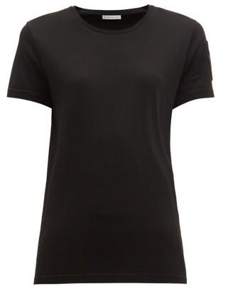 Moncler Velvet-logo Patch Cotton T-shirt - Black