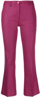 Pt01 houndstooth check cropped trousers