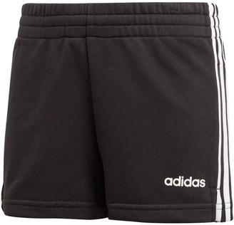 adidas Girls 3-Stripes Shorts - Black