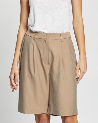 Elka Collective - Women's Brown High-Waisted - Lucini Shorts - Size 6 at The Iconic
