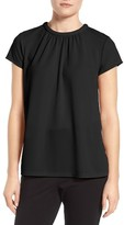 Women's Halogen Pleat Front Crepe Top
