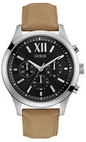 GUESS High Flyer Roman Numeral Leather Watch
