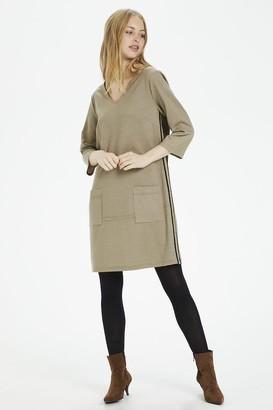 Cream Anett Dress - Taupe Check / XS