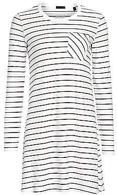 ATM Anthony Thomas Melillo Women's Sparkle Stripe T-Shirt Dress