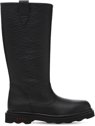 Marni 20mm Leather Tall Boots