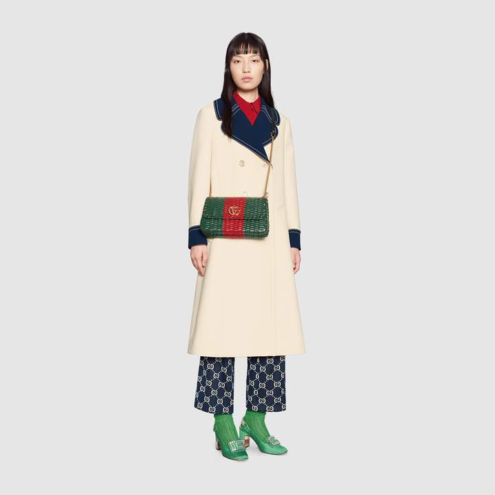 Gucci Wool coat with contrast details