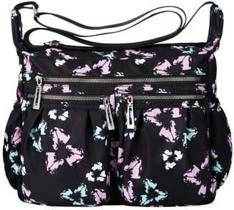 Vbiger Women Cross-Body Bag Classic Travel Shoulder Bag Trendy Messenger Bag Large-Capacity Nylon Cross-Body Bags, Black