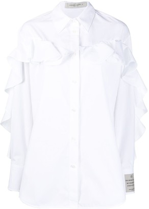 Golden Goose Ruffle-Trim Oversized Shirt