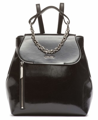 Calvin Klein Western Novelty Statement Chain Flap Backpack