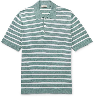 Altea Striped Linen Polo Shirt