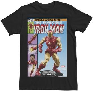 Iron Man Men's Marvel Legends Series The Invincible Comic Cover Tee