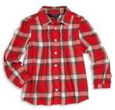 Ralph Lauren Toddler Girl's Pintuck Plaid Shirt