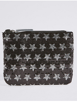 Marks and Spencer Kids' Faux Leather Sequin Phone Bag