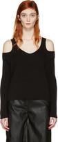 MM6 MAISON MARGIELA Black Cut-out Sweater