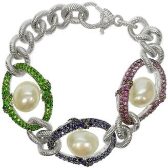 Judith Ripka Sterling 5.00 cttw Gemstone Avg. Bracelet