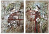 Uttermost 2-pc. Birds In A Cage Wall Art Set