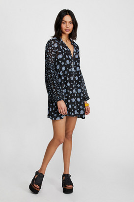 Free People Collared Mini Dress