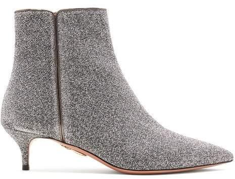Aquazzura Quant 45 Ankle Boots - Womens - Silver