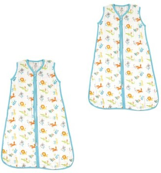 Luvable Friends Baby Boy and Girl Muslin Wearable Sleeping Bag 2 Pack, ABC, 0-6 Months