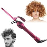 Curling Iron Wand, BlueTop Unisex Professional 9mm Super Mini Tourmaline Ceramic Barrel Small Wand Hair Roller Curler Crimper Iron New styling wand for Travel Vacation Best Gift