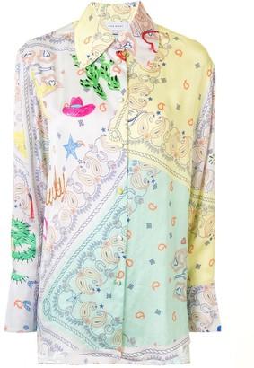 Mira Mikati Oversized Bandana-Print Shirt