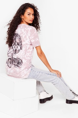 Nasty Gal Womens Talk to the Palm Tie Dye Graphic Back Tee - Pink