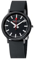Mondaine 'Stop 2 Go' Rubber Strap Watch, 41mm