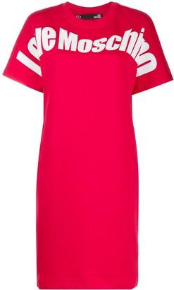 Love Moschino Logo Print Sweater Dress