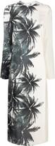 Ermanno Scervino foliage-print mock neck dress