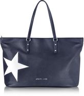 Armani Jeans Dark Navy Eco Leather Tote w/Star