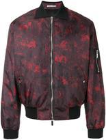 Christian Dior abstract print bomber jacket - men - Polyamide/Polyester/Polyurethane/Cupro - 46