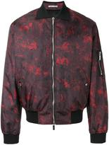 Christian Dior abstract print bomber jacket - men - Polyamide/Polyester/Polyurethane/Cupro - 48