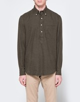 Gitman Brothers Popover Flannel in Loden