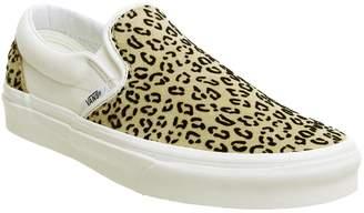 Vans Classic Slip On Trainers Leopard Taffy Marshmellow
