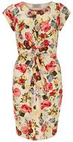 Dorothy Perkins Pippa Dee Cream floral twist front dress