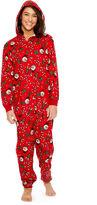 Asstd National Brand Onesie Allover Holiday Print Family Pajamas-Women's