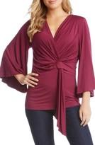 Karen Kane Women's Bell Sleeve Twist Front Top