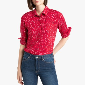 Benetton Floral Print Buttoned Shirt with Long Sleeves