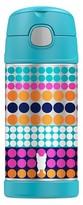 Thermos Portable Beverage Bottle - Blue Dots (12oz)