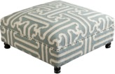 The Well Appointed House Surya Slate and Beige Ottoman