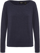 Oxford Gianna Metallic Boatneck Knit Nvy X
